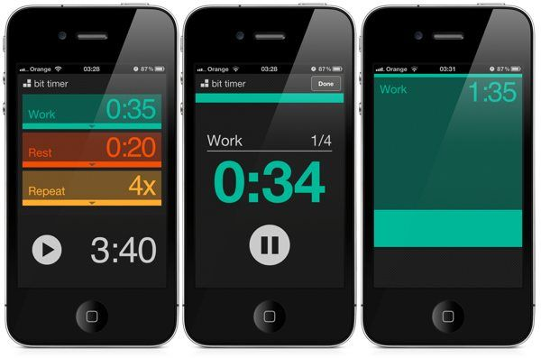 Bit Timer - interval workout timer app for iPhone | - http://www.bittimerapp.com  t#interfacedesign