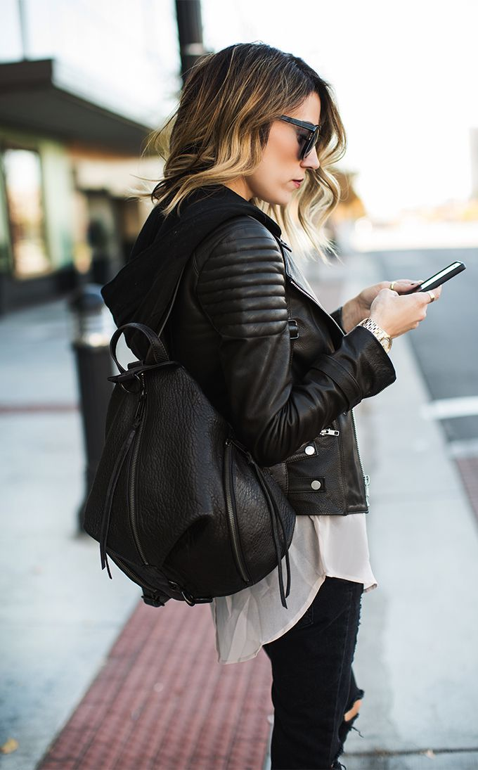 Stylish leather backpack, for the woman that carries everything including her…