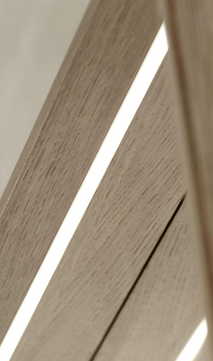 Energy-saving LED lighting in the framed mirror.