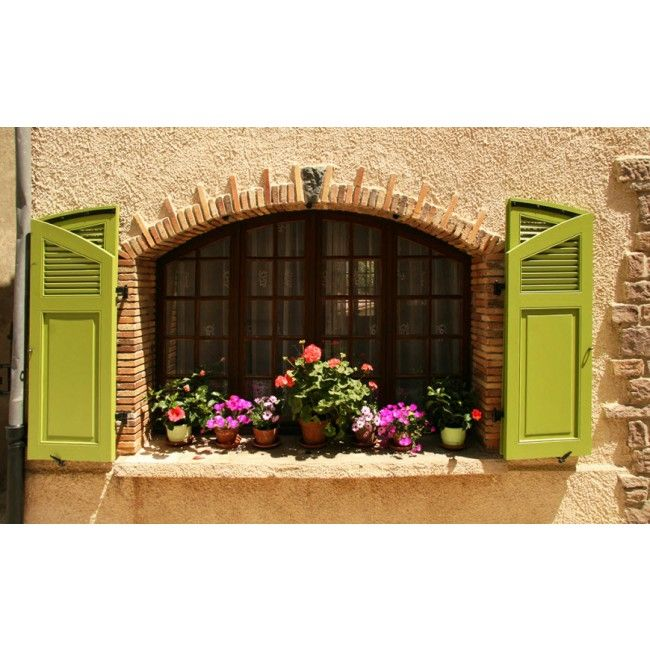 Decorative Window Shutters Decor High Quality Removable Wall Mural