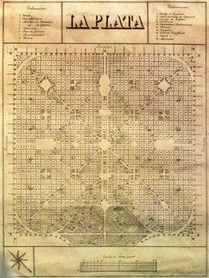 Ciudad de La Plata, plano fundacional.