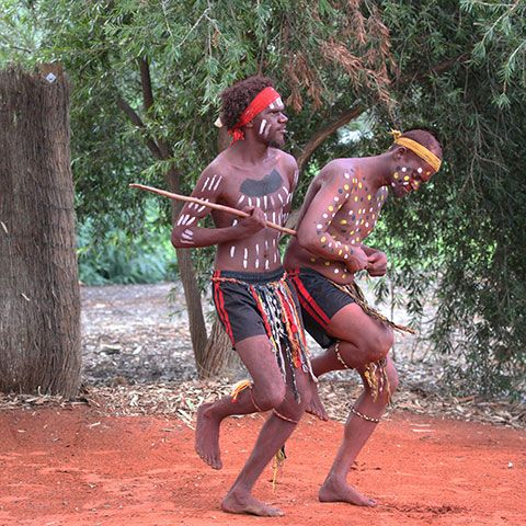 Putitja Dancers Bush Dances In Local Language Showing Traditional Inma Is