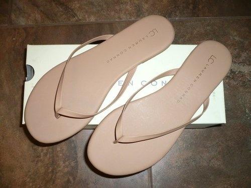 LC Lauren Conrad Valencia Nude Flip-Flops $9.59 @ Kohls