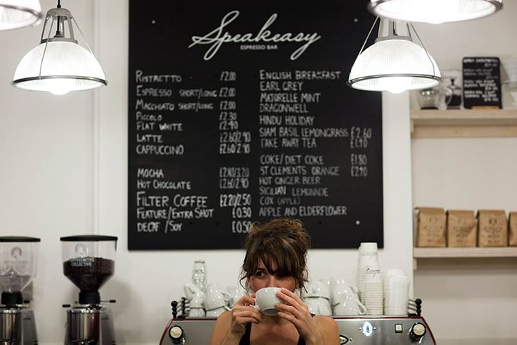 Speakeasy: Carnaby coffee location with an extensive coffee menu, this is another café from the Department of Coffee, with table service & great cakes.