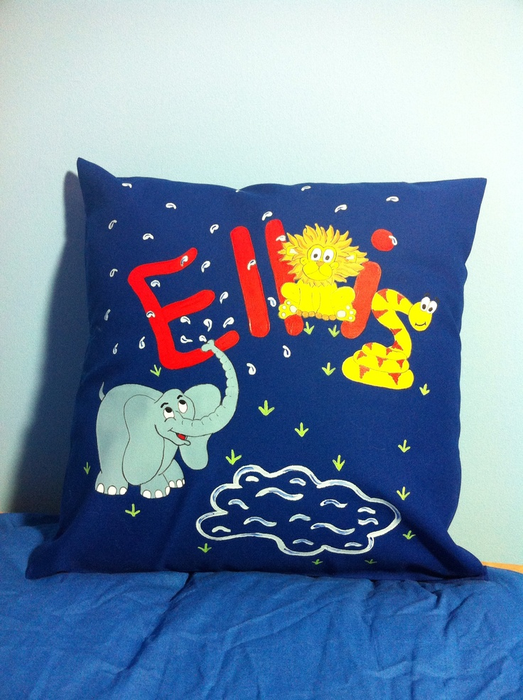 Elephant and snake cushion for Ellis