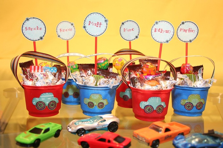 boy party favors | Cars boy birthday favors | Tips Kids Party - Ideas, Themes ...