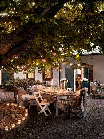 Middag i trädgården. Inspiration från vår tillverkare Brafab.