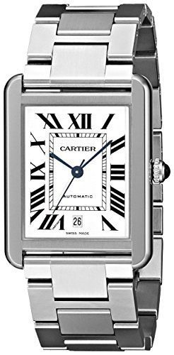 #cartierwatchesformen #silverwatch Cartier Men's W5200028 Analog Display Automatic Self Wind Silver Watch Check https://www.carrywatches.com