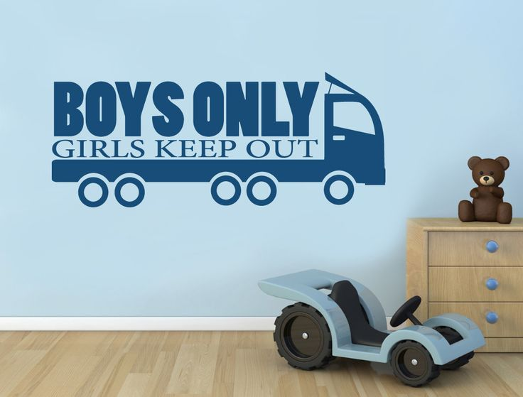 Truck Wall Sticker | Boys Only Girls Keep Out