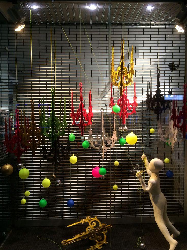 installing the chandeliers, created by Ton van der Veer