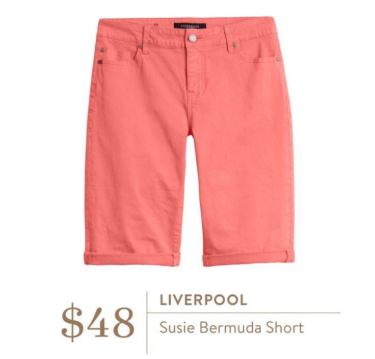 Stitch Fix März 2016 – Liverpool Susie Bermudashorts, bunte lange Shorts für …   – Stitch Fix