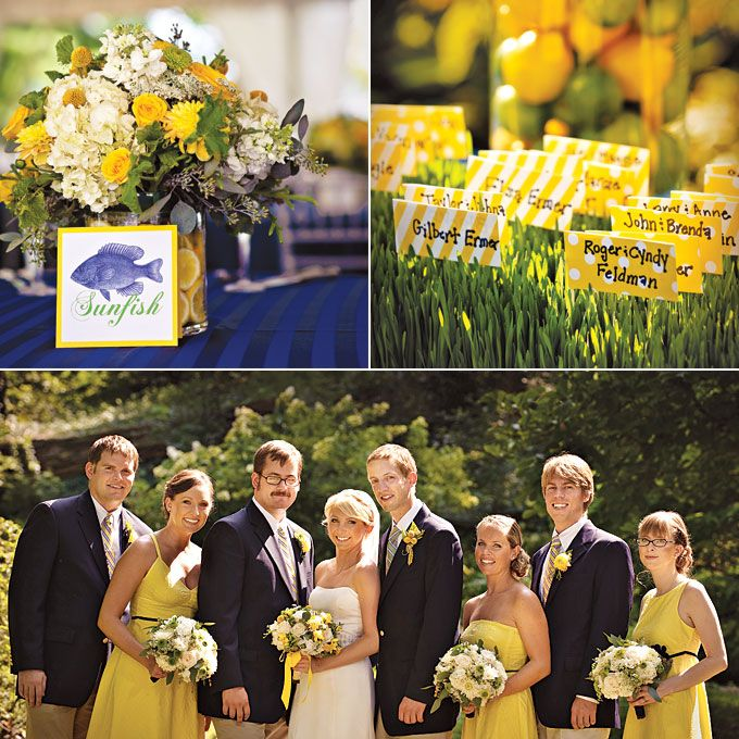 275 best Wedding Royal Blue and Yellow images on Pinterest