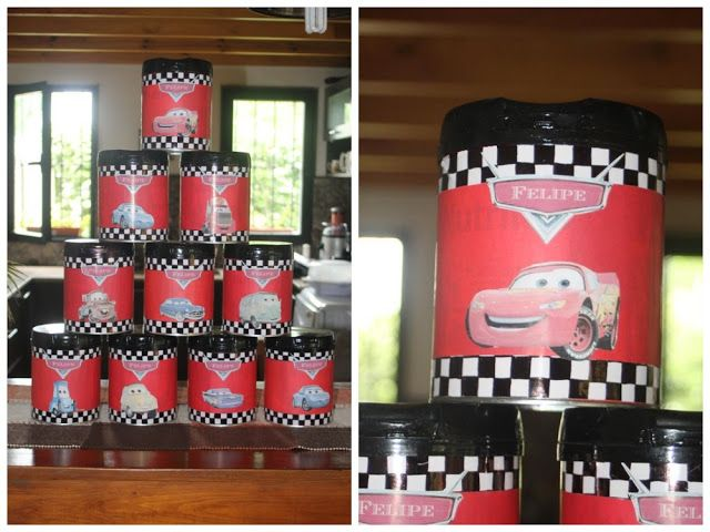 latas golosineras de cumpleaos cars cars birthday candy tan