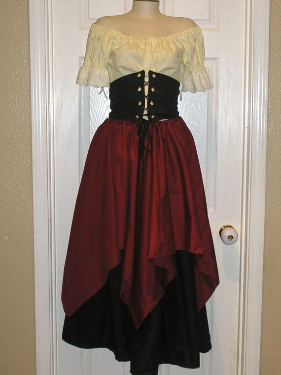 Romantic Women Renaissance Victorian Wench Pirate by Designsbylael