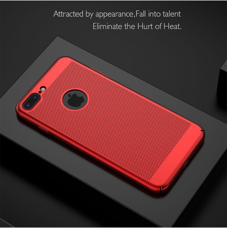 Mesh Dissipating Heat Fingerprint Resistant PC Shockproof Back Case For iPhone 7 Plus 5.5 Inch