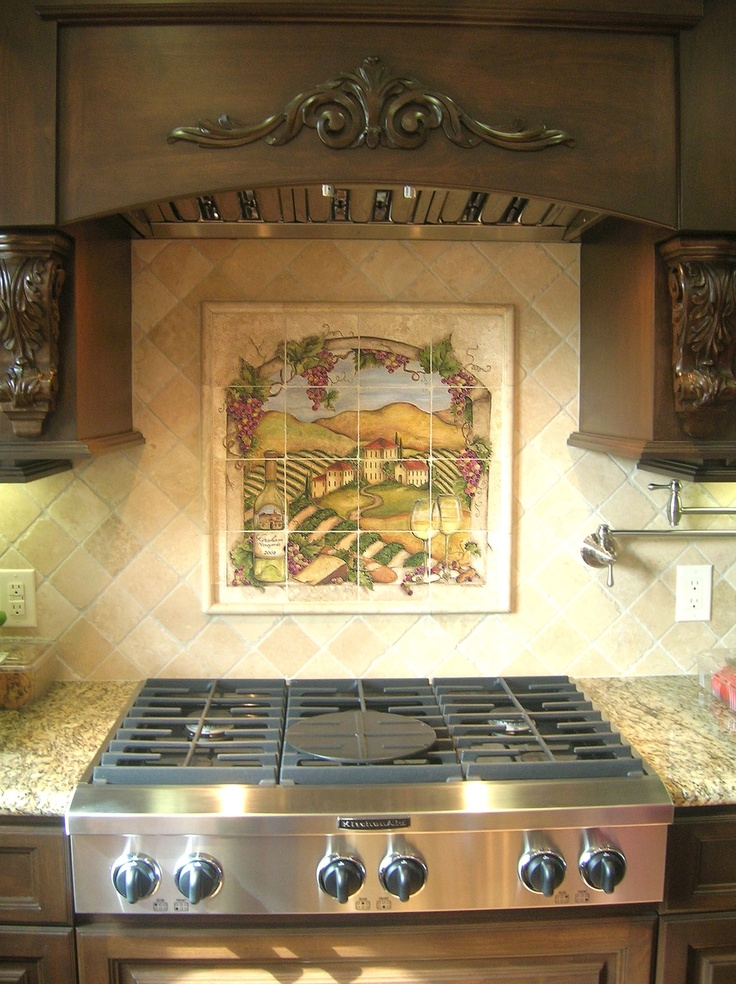 kitchen murals backsplash 145 best images about painted tiles on 13697