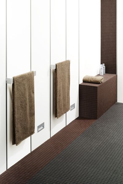 Sleek, clean and modern bathroom using James Hardi pre-finished wall lining - HardieGlaze™ Lining. So spacious looking!