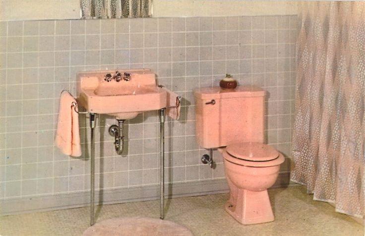 pink and grey bathroom vintage bathrooms pinterest. Black Bedroom Furniture Sets. Home Design Ideas