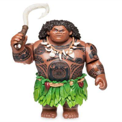 """Mit dieser singenden """"Maui""""-Figur werden die Kleinen liebend gerne die epischen Abenteuer von Maui und Vaiana nachspielen. Der mächtige Halbgott schwingt seinen magischen Angelhaken und singt und spricht auf Knopfdruck."""