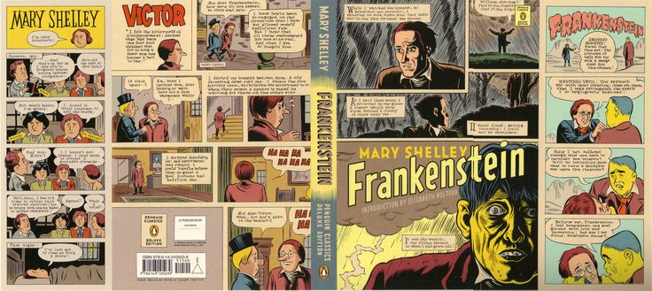 Mary Shelley Frankenstein Deluxe Edition Cover Art From Daniel Clowes