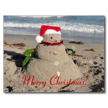 Merry Christmas! #merry #christmas #snowman #funny #sandman #florida #ocean #cool #sand #beach #sun