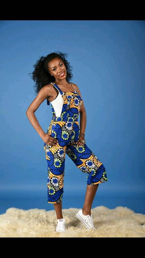 SALE NEW Irene Dungarees African print clothing by RAHYMA on Etsy