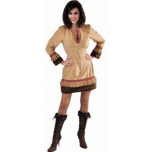 Costume Déguisement Esquimau Brun Femme Deluxe