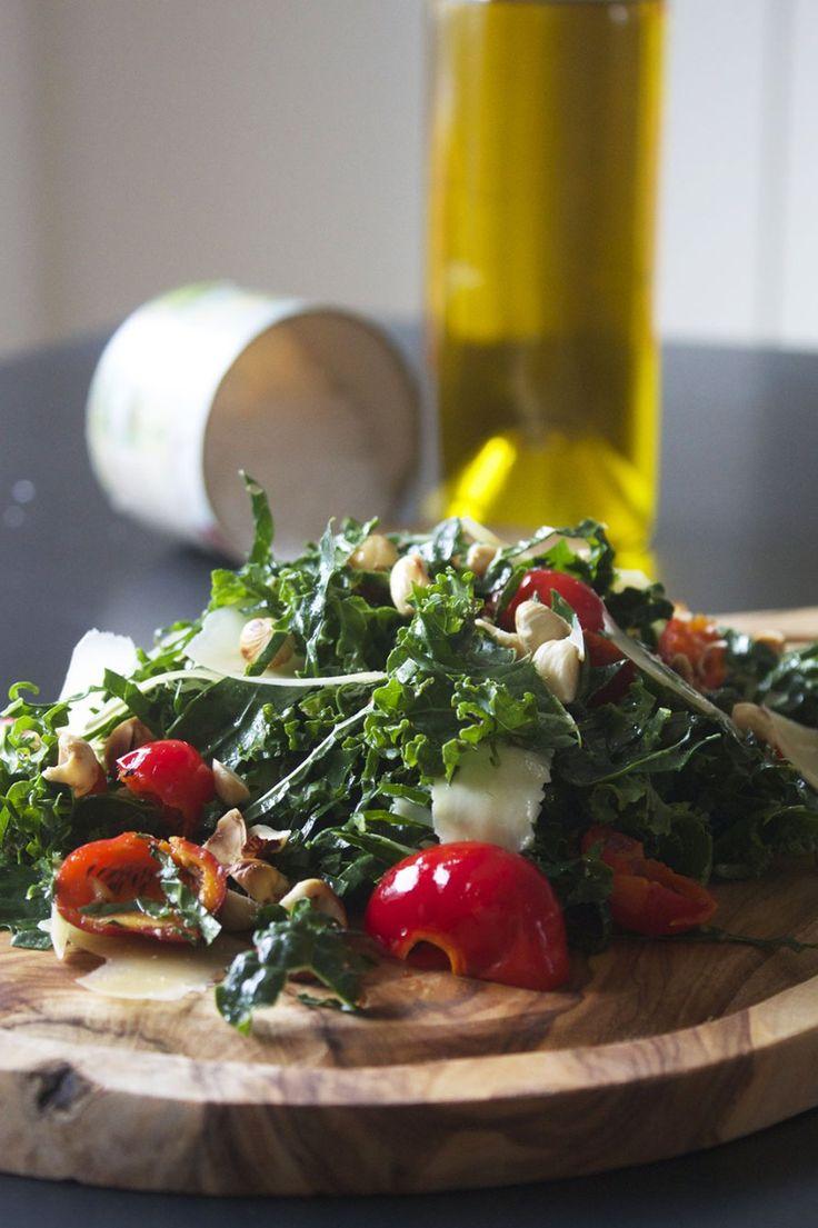 Salat med hyben, hasselnødder og Havgus