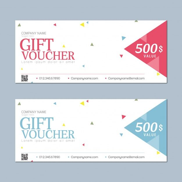 Gift voucher with simple design Free Vector