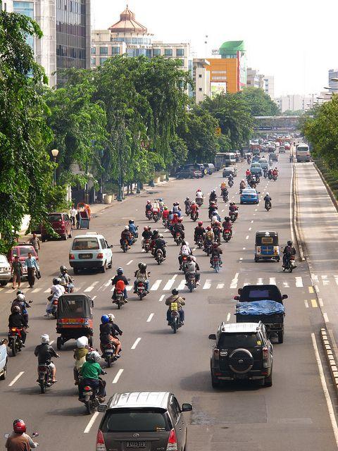 Motorcycle Highway - Jakarta, Indonesia