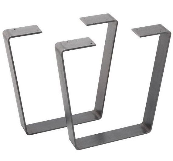 Patas de mesa de metal de barra plana por SoundSolutionsFab en Etsy
