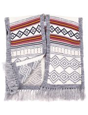 Fringed Poncho for Little Girls by Rococo