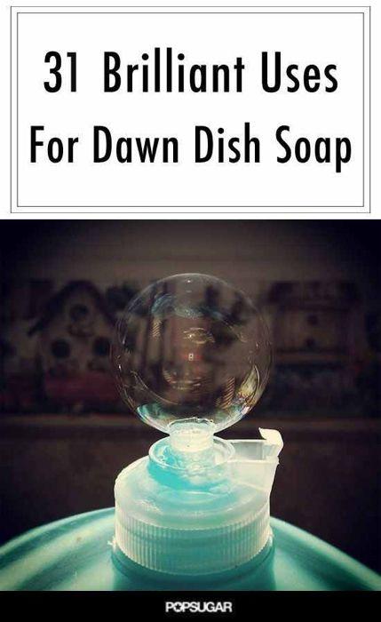 '31 Brilliant Uses For Dawn Dish Soap...!' (via POPSUGAR Smart Living)