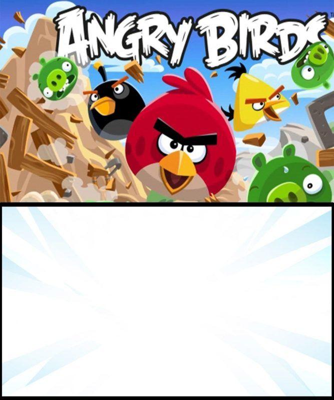 Angry Birds Initation Card Bird Invitation Bird Birthday Invitations Bird Birthday Parties