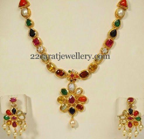 Navaratna-mala-with-earrings.jpg (493×475)