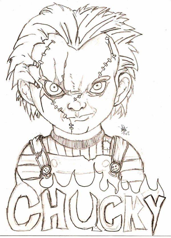 Chucky Coloring Pages : chucky, coloring, pages, Chucky, Eyball, Scary, Drawings,, Creepy, Horror, Drawing