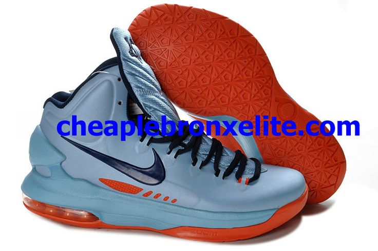 Nike Zoom KD V Cheap ICE Blue Squadron Blue Total Orange 554988 400 � Kevin  Durant ...