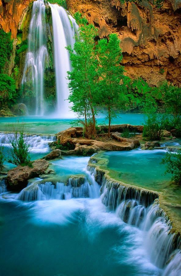 Havasu Creek is a stream in the U.S. state of Arizona associated with the Havasupai people. It is a tributary to the Colorado River, which it enters in the Grand Canyon. United States of America.