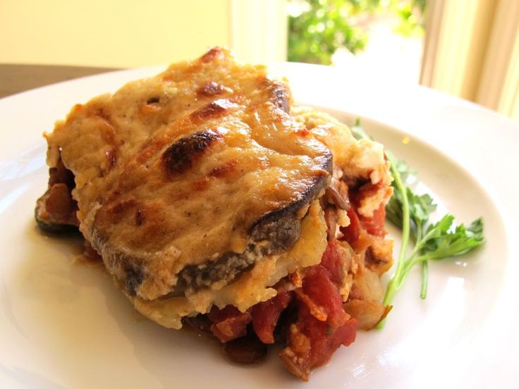 Vegetable Moussaka - At last. No little lambs have to die just for ...
