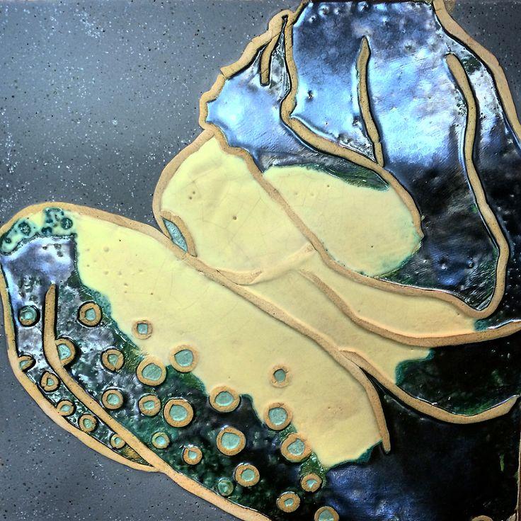 """mermaid 2"" ceramic relief by Weronika Surma www.weronikasurma.com"