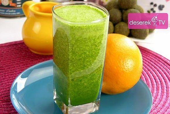Zielony Koktajl Owocowy – Pomarańsczowy