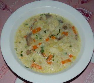 Сырный суп с шампиньонами и брокколи (или цветной капустой)