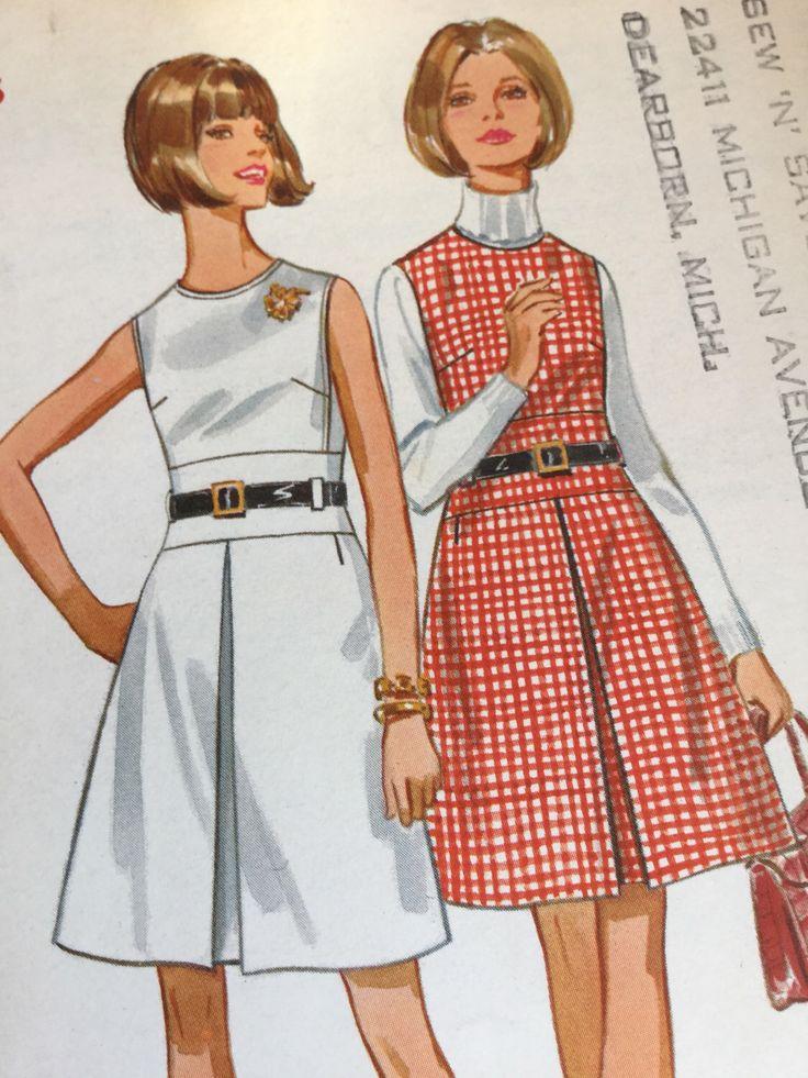 Patron de couture vintage des années 1960 du motif, Butterick 5351, couture, robe avec corsage ajusté, taille 14, buste 36, non-cut & usine plié par TownLane sur Etsy https://www.etsy.com/fr/listing/512582337/patron-de-couture-vintage-des-annees