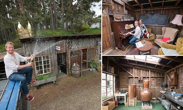 Cheers! Wooden gin distillery wins Shed of the Year competition