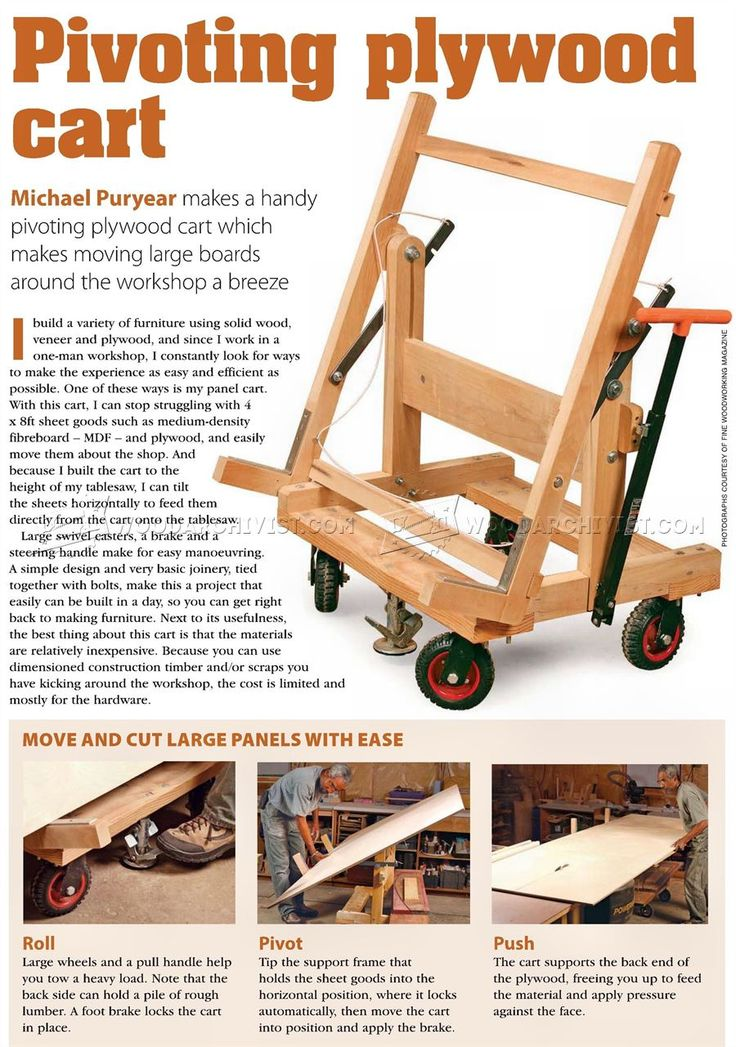 #480 Pivoting Plywood Cart Plans - Workshop Solutions