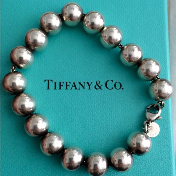 """Tiffany & co. Bead bracelet Good used condition. Sterling silver. 10mm balls and 7.5"""" long. Guaranteed authentic! Does not come with box or pouch. Tiffany & Co. Jewelry Bracelets"""