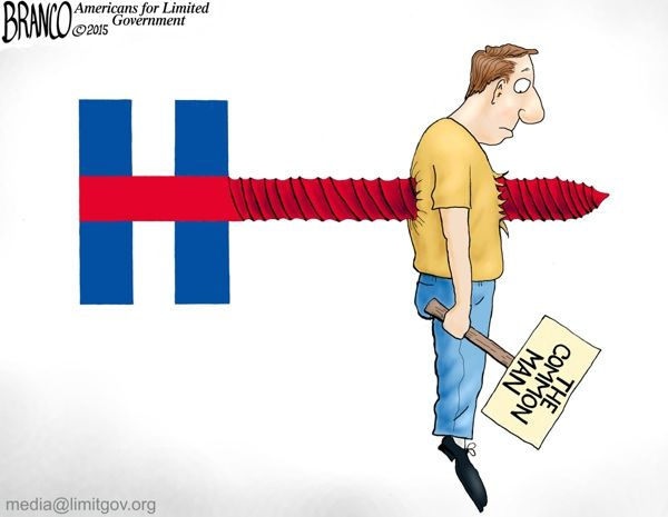 killary logo unveiled, reveals how screwed we are if she becomes president. Cartoon by A.F.Branco ©2015.