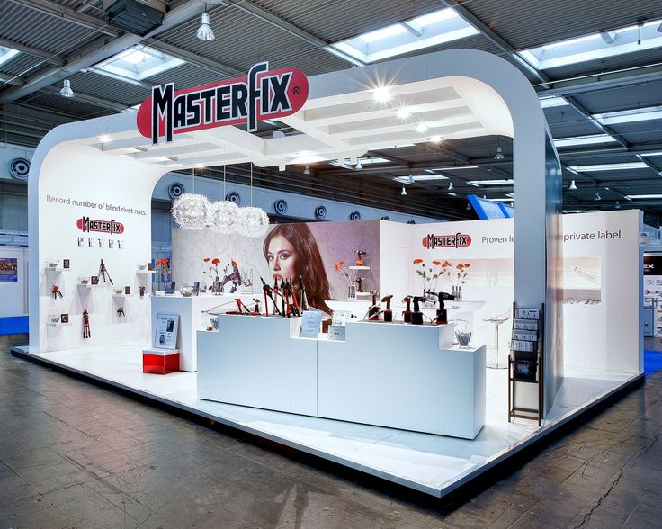 A stand we realised for Masterfix at the Fastener Fair in Stuttgart.