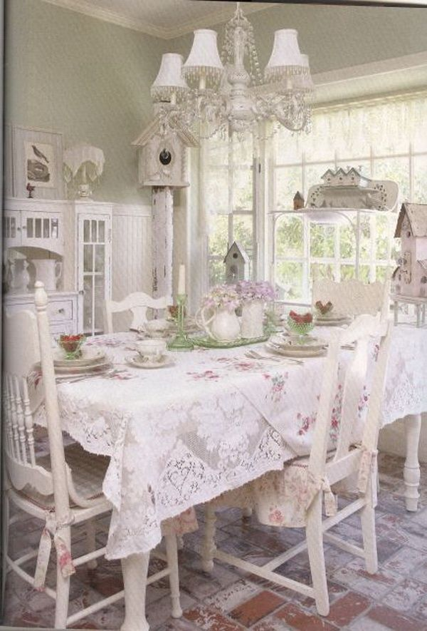 35 beautiful shabby chic dining room decoration ideas - Shabby Chic Design Ideas