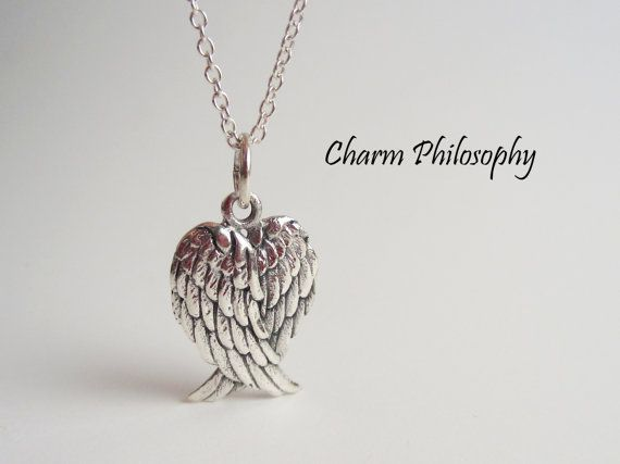 Angel Wings Necklace 925 Sterling Silver by charmphilosophy